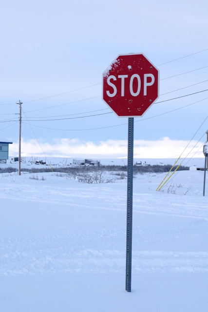 Brevig Mission Has a Stop Sign!