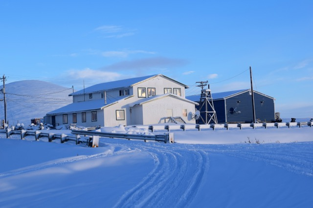 Lutheran Church and Brevig Muit Store in Brevig Mission, Alaska