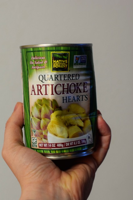 Canned Artichoke Hearts for Spinach Artichoke Dip!