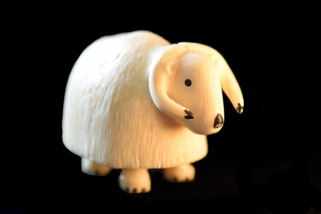 Ivory Carvings- Musk Ox by Chris Olanna