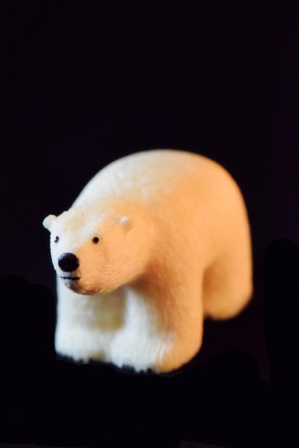Ivory Carvings- Polar Bear by Jerome Sinnok