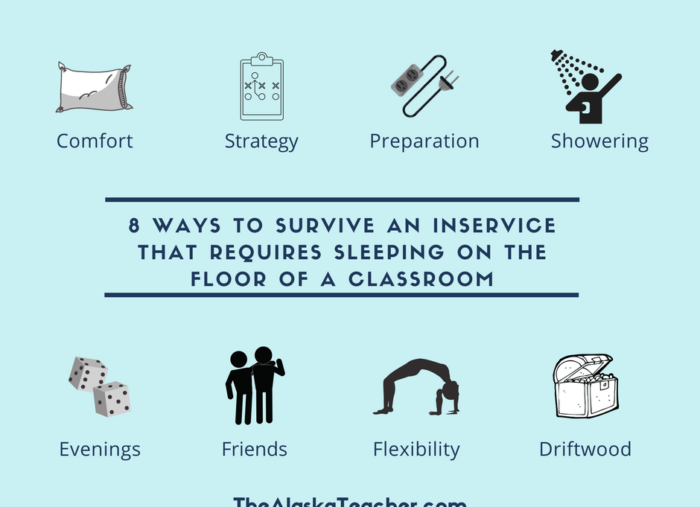 8 Ways I Survive District Inservice Meetings That Require Sleeping on a Classroom Floor