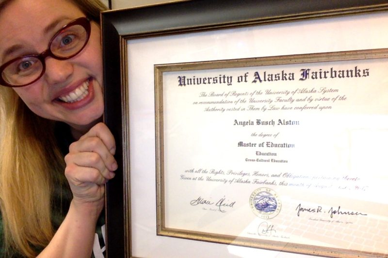 getting a graduate degree in the Alaska Bush