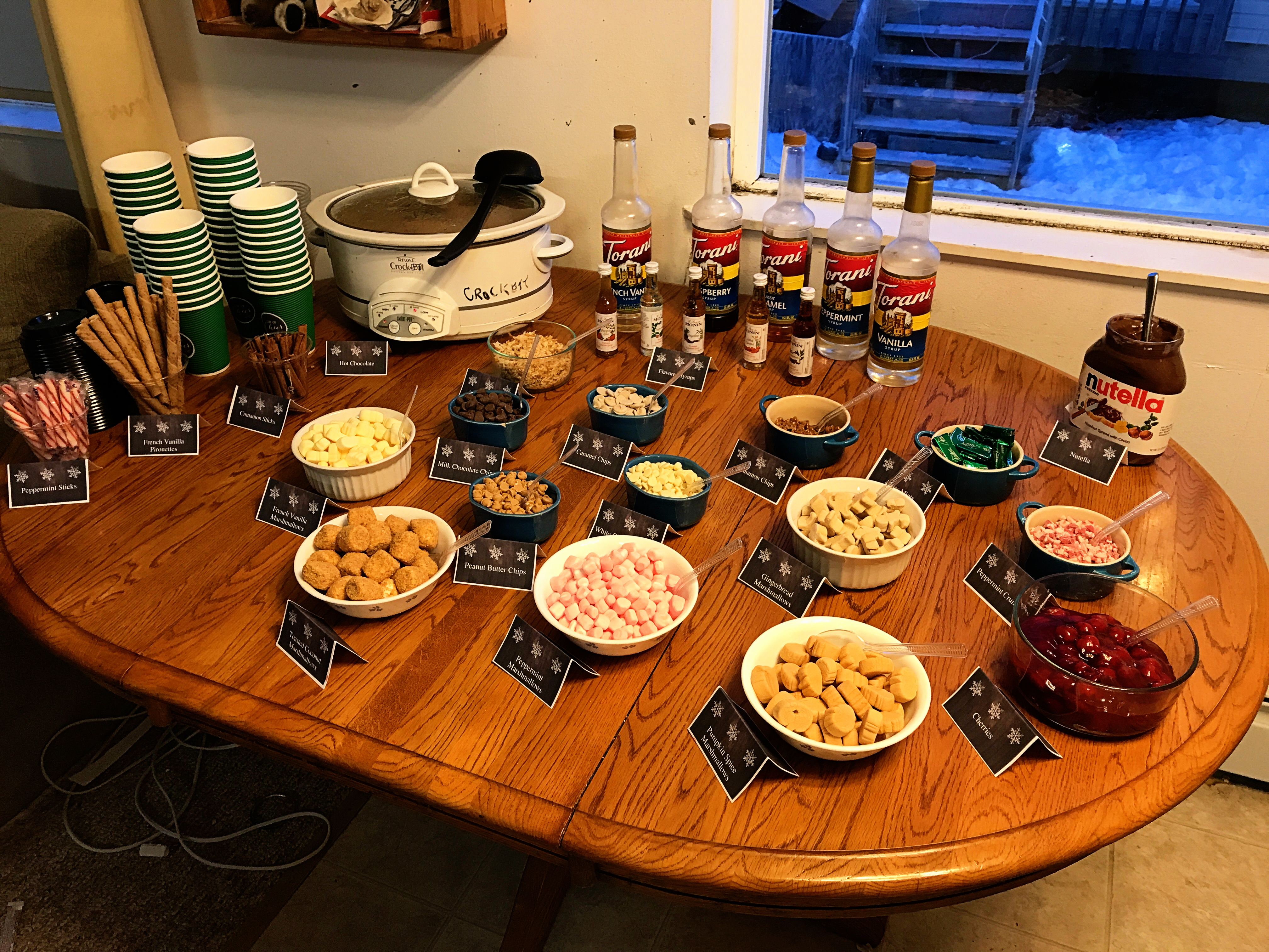 Christmas in Brevig Mission Hot Chocolate Bar