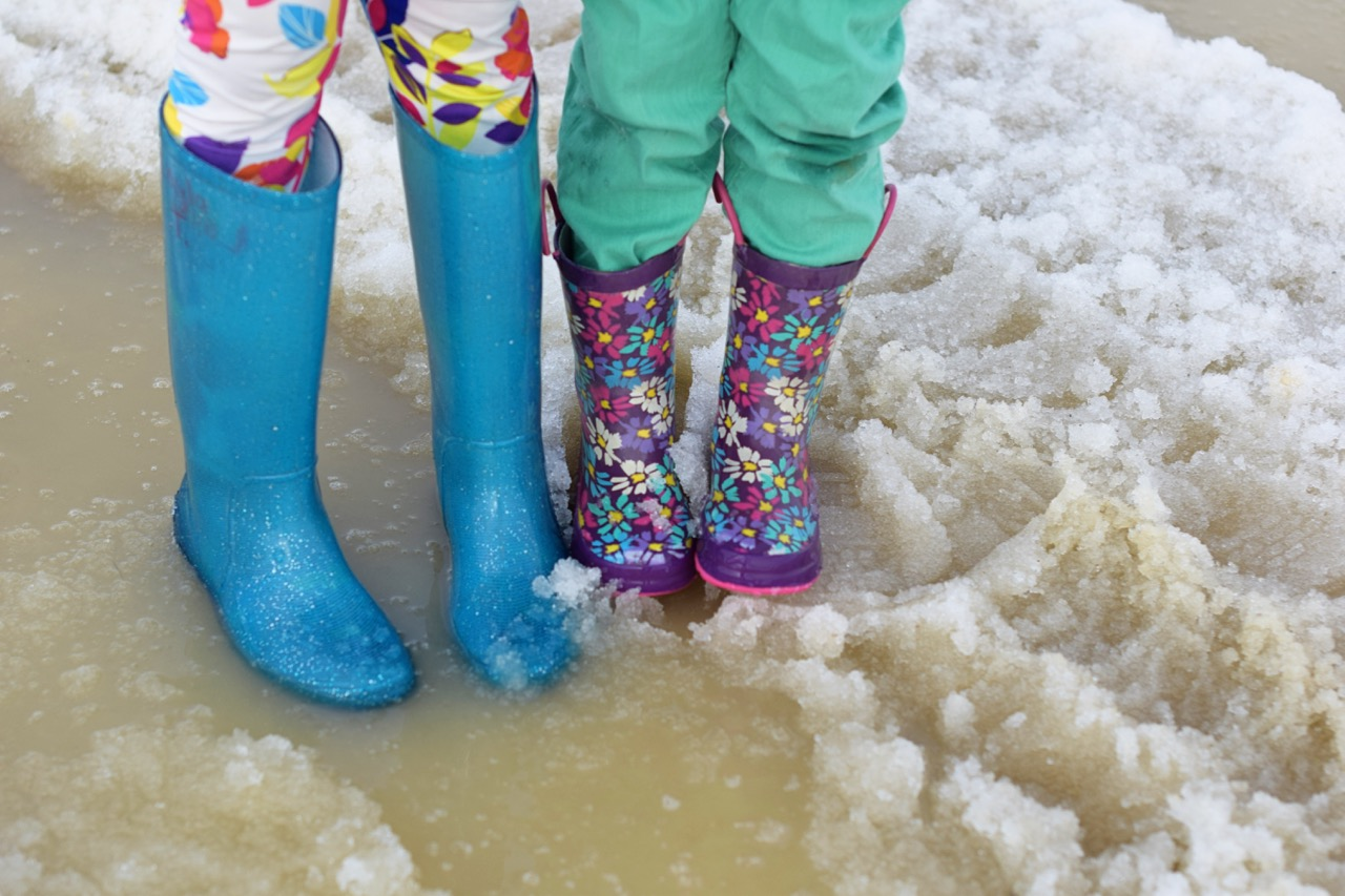 Spring in Brevig Mission: Puddle Boots