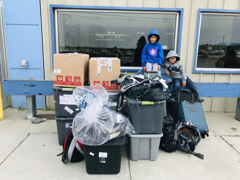 traveling back to the alaska bush baggage in Nome